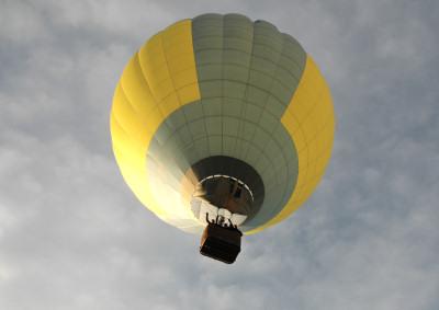 Ballongen i luften!